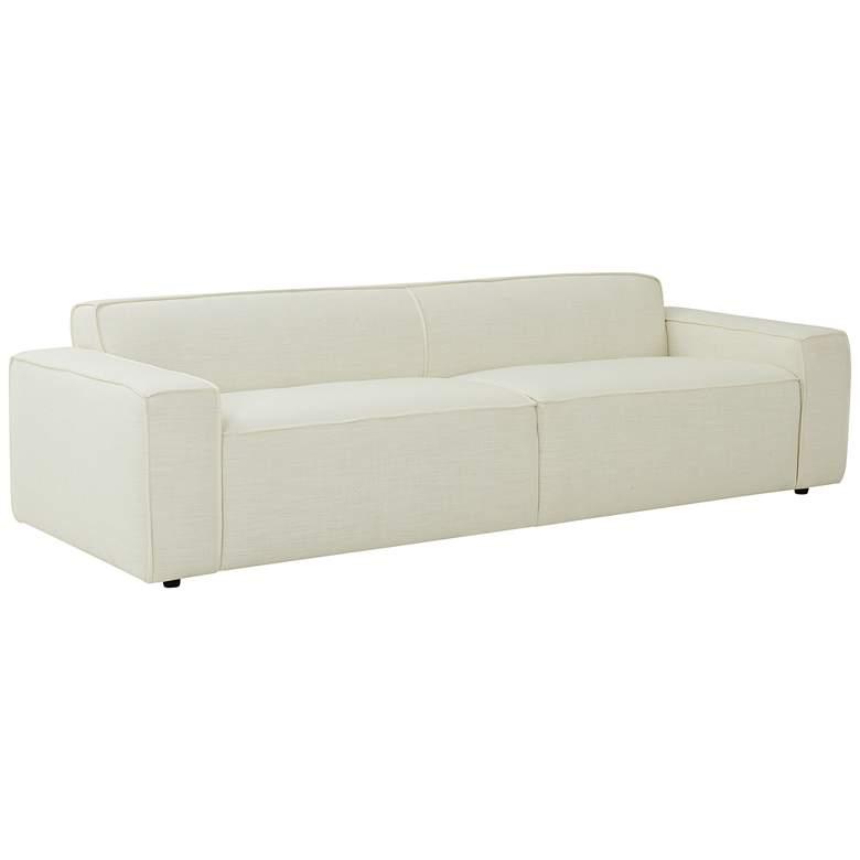 """Olafur 96 1/2"""" Wide Cream Linen 2-Seater Sofa"""