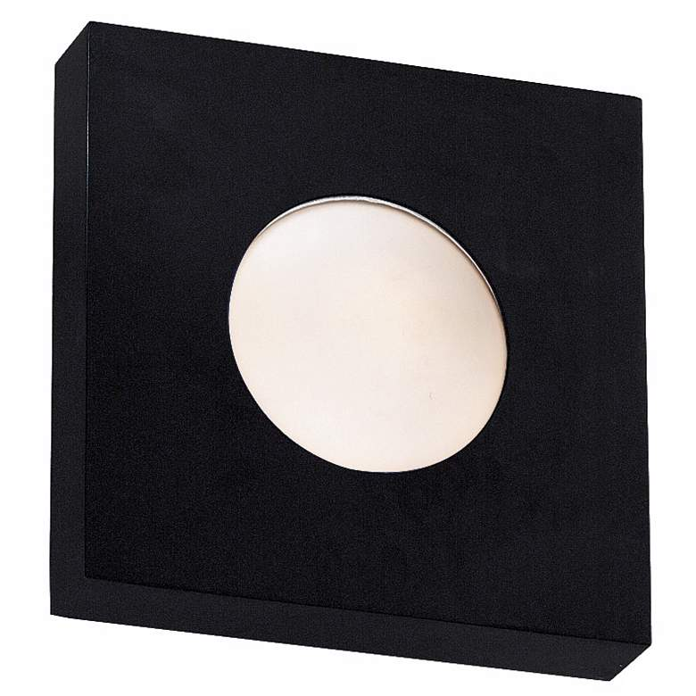 """Burst Black Square  8"""" Wide Outdoor Wall or Ceiling Light"""