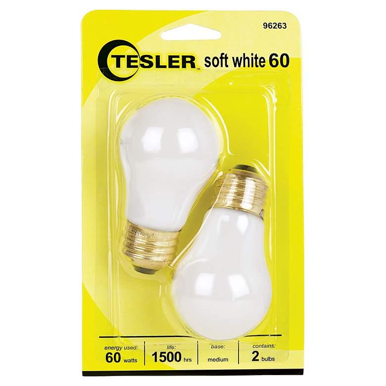 reputable site cf7a2 93468 Tesler 60 Watt 2-Pack Soft White Ceiling Fan Light Bulbs