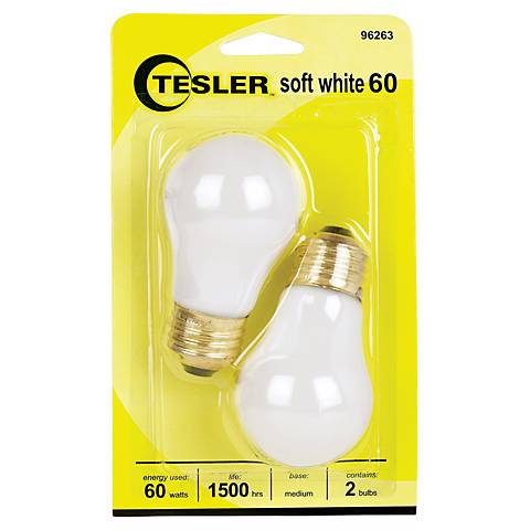 Tesler 60 Watt 2-Pack Soft White Ceiling Fan Light Bulbs