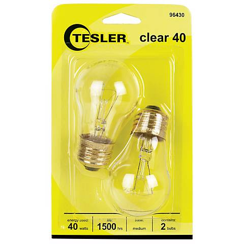 Tesler 40 Watt 2-Pack Clear Ceiling Fan Light Bulbs