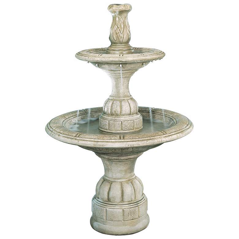 "Elban 53"" High 2-Tier Traditional Garden Fountain"