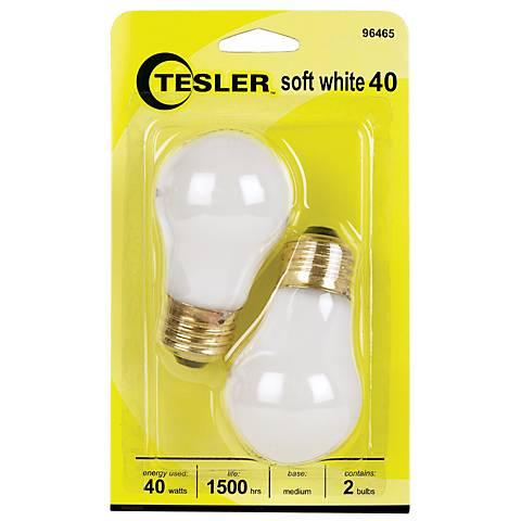 Tesler 40 Watt 2-Pack Soft White Ceiling Fan Light Bulbs