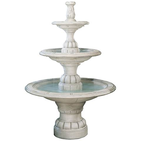 "Henri Studio 70"" High Large 3-Tier Transitional Fountain"