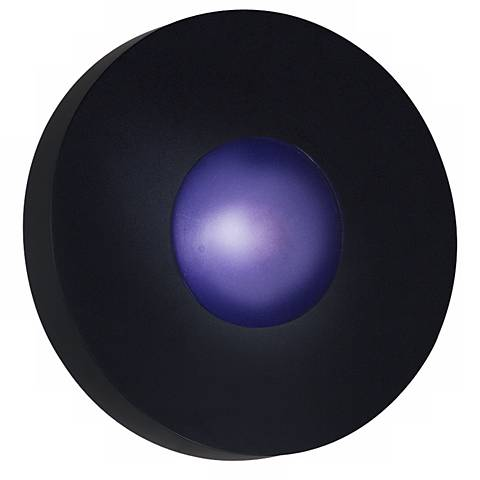 """Burst Black Round 12"""" Wide Outdoor Ceiling or  Wall Light"""