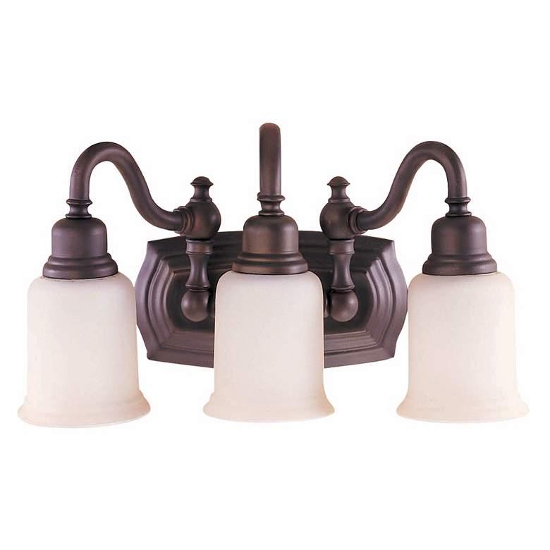 "Canterbury 19""W Oil-Rubbed Bronze 3-Light Bathroom Light"