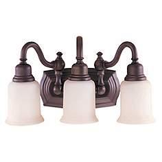 Rustic bathroom lighting vanity light designs lamps plus canterbury 19w oil rubbed bronze 3 light bathroom light aloadofball Image collections