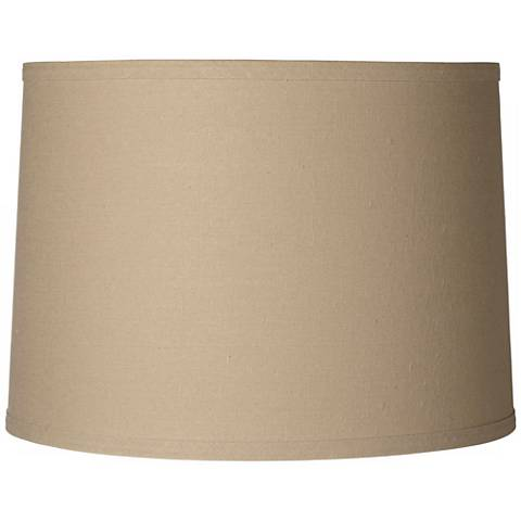 Taupe Linen Hardback Shade 13x14x10 (Spider)