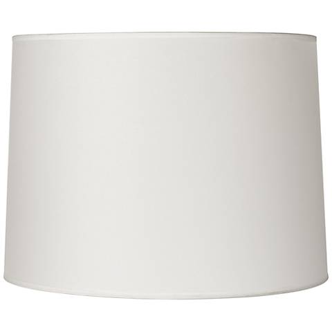Hardback White Drum Lamp Shade 13x14x10 (Spider)