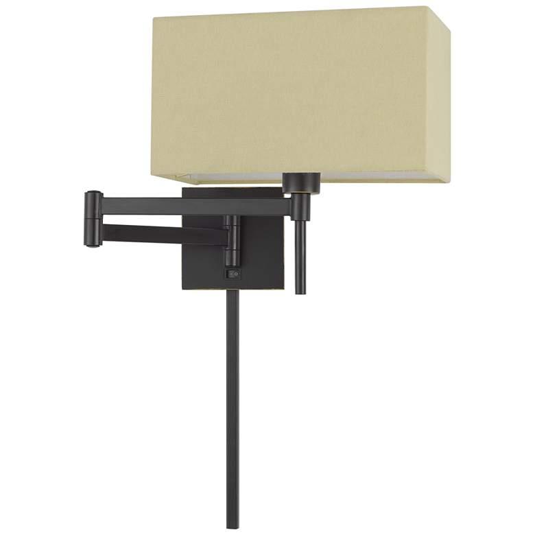 Robson Dark Bronze Plug-In Swing Arm Reading Wall Lamp
