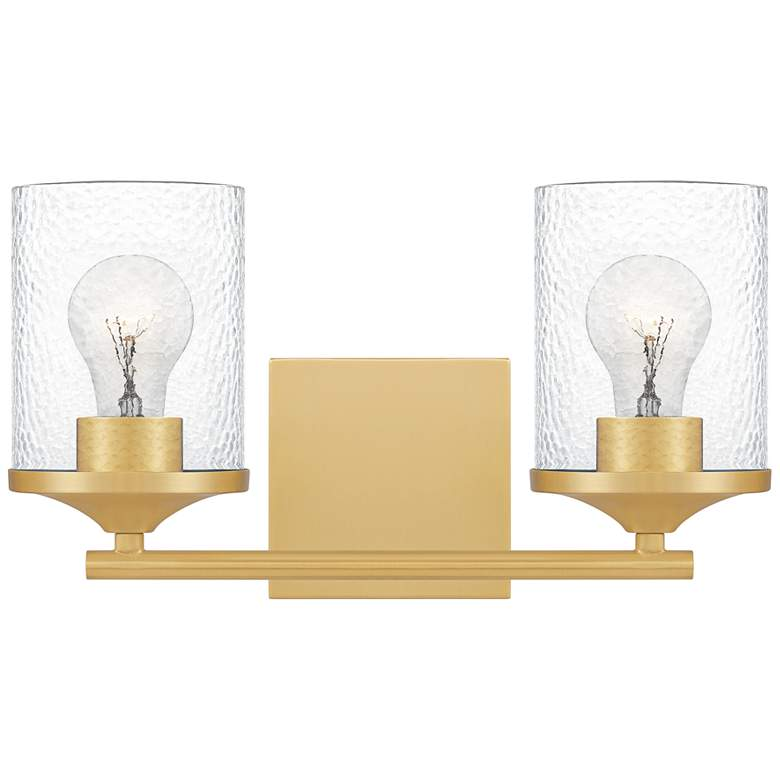 """Quoizel Abner 7 3/4"""" High Aged Brass 2-Light Wall Sconce"""