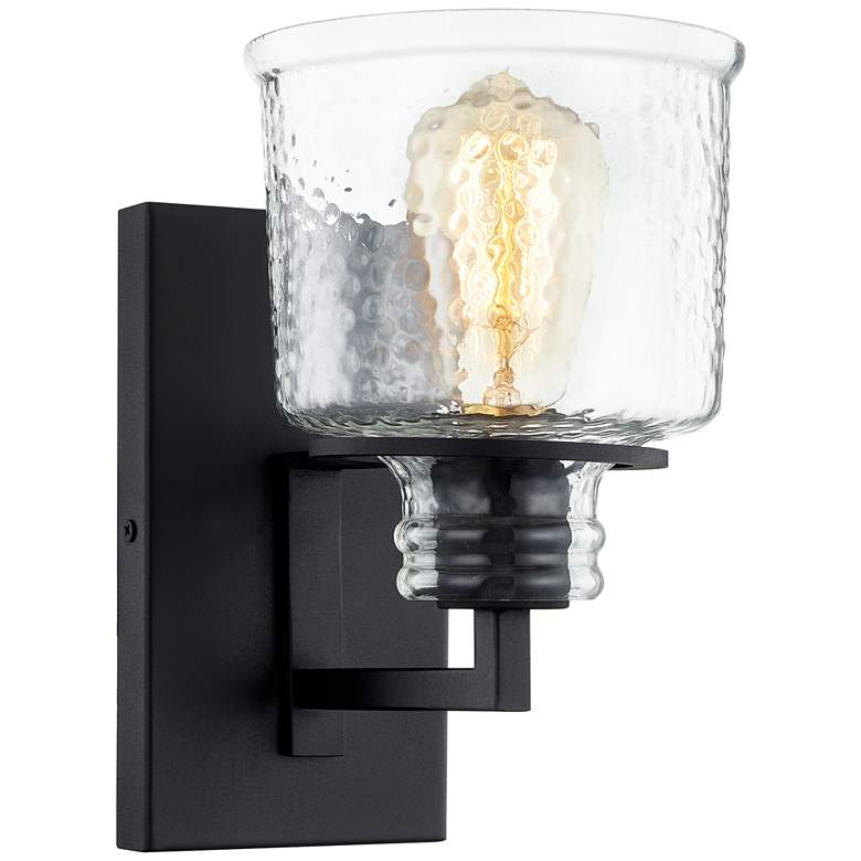 """Quoizel Holden 9 1/4"""" High Earth Black Wall Sconce"""