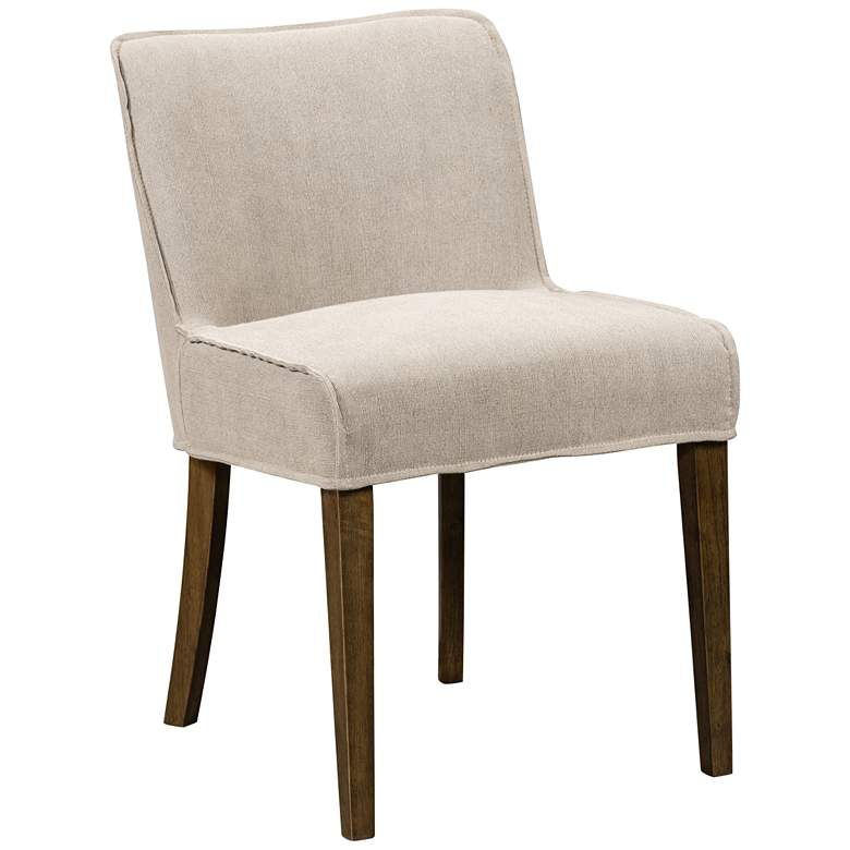 Aria Heather Twill Stone Dining Chair
