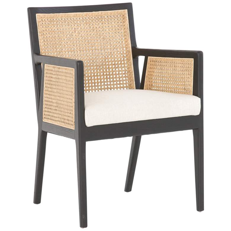 Antonia Linen and Brushed Ebony Nettlewood Dining Chair