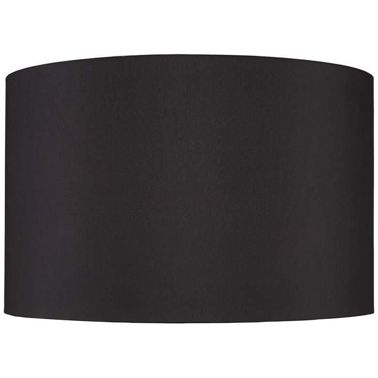 Black Faux Silk Drum Lamp Shade 19x19x12 (Spider)