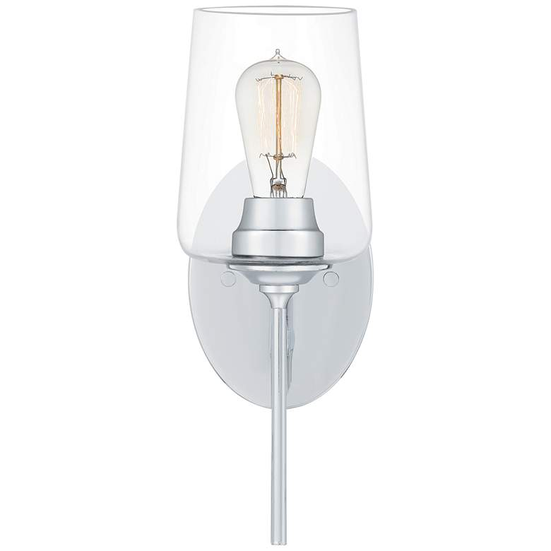 """Quoizel Miller 13 1/2"""" High Polished Chrome Wall Sconce"""