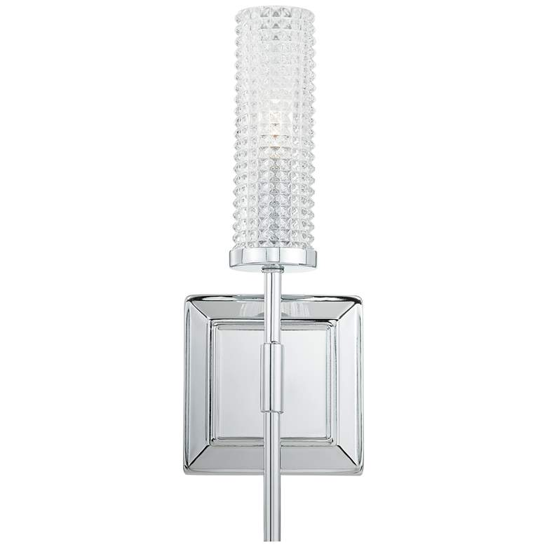 """Quoizel Nora 14 1/4"""" High Polished Chrome Wall Sconce"""