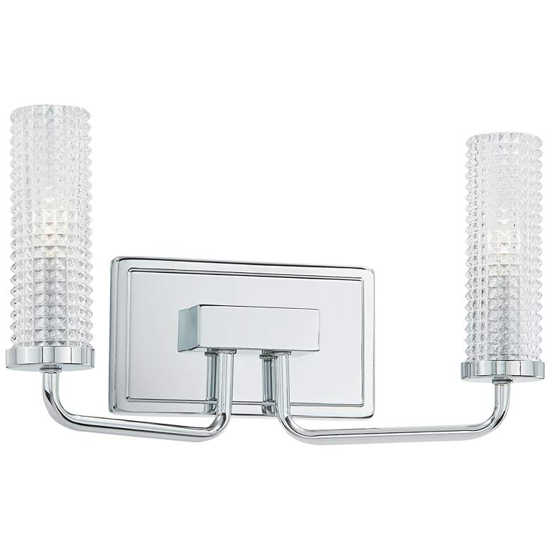 """Quoizel Nora 8 1/2"""" High Polished Chrome 2-Light Wall Sconce"""