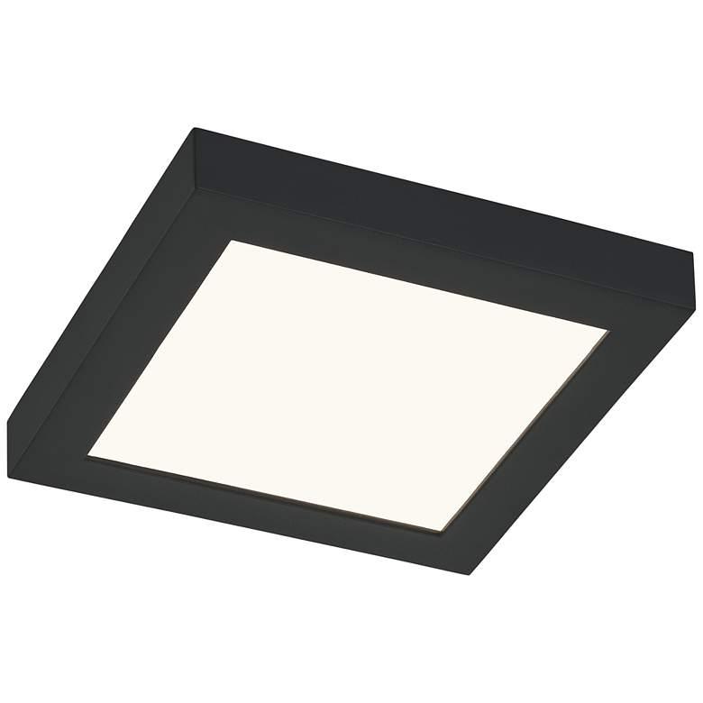 "Quoizel Outskirts 7 1/2"" Wide Earth Black LED Ceiling Light"