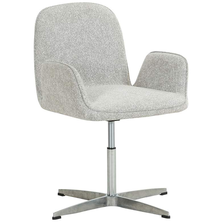 Trevor Elder Sable and Aluminum Swivel Desk Chair
