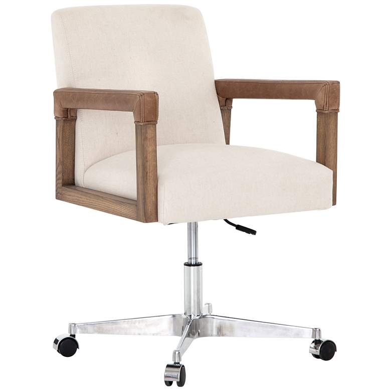 Reuben Harbor Natural and Nettle Wood Desk Chair