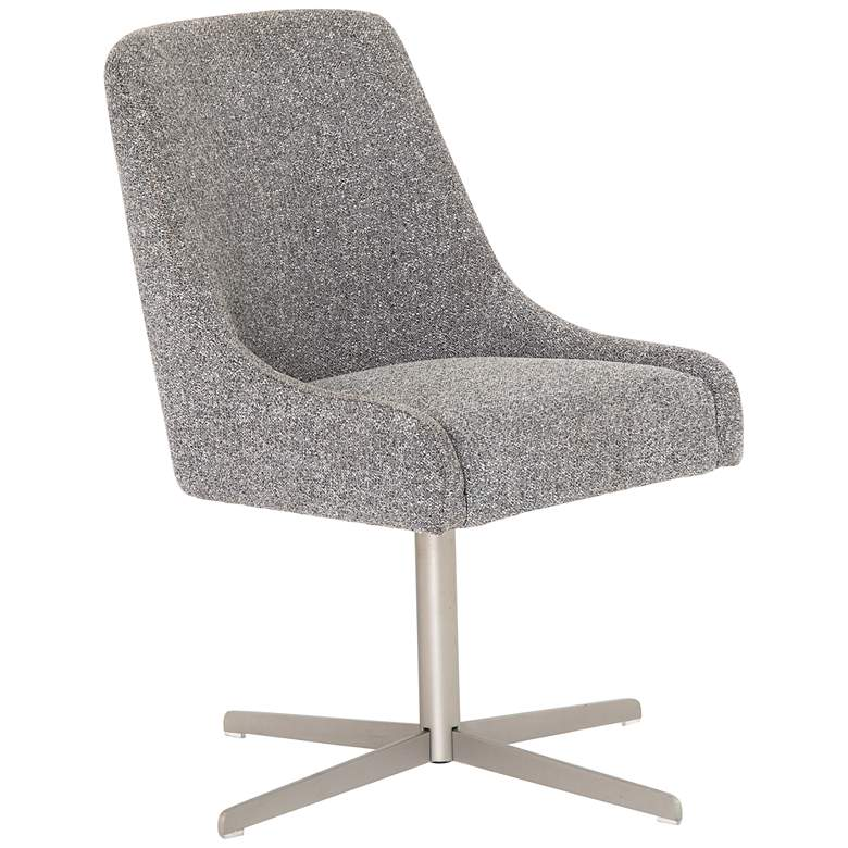 Tatum Bristol Charcoal and Stainless Steel Swivel Desk Chair