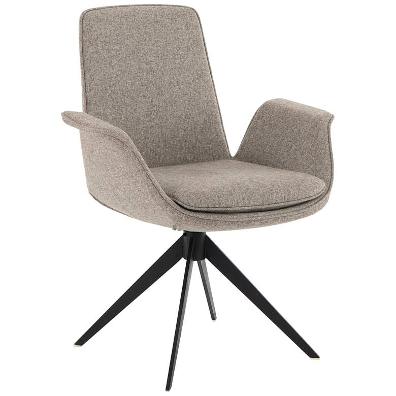 Inman Orly Natural and Iron Swivel Desk Chair