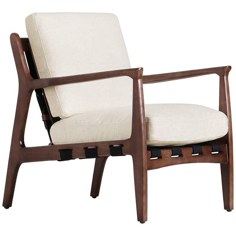 Silas Osaka Blanco Leather and Ash Wood Chair