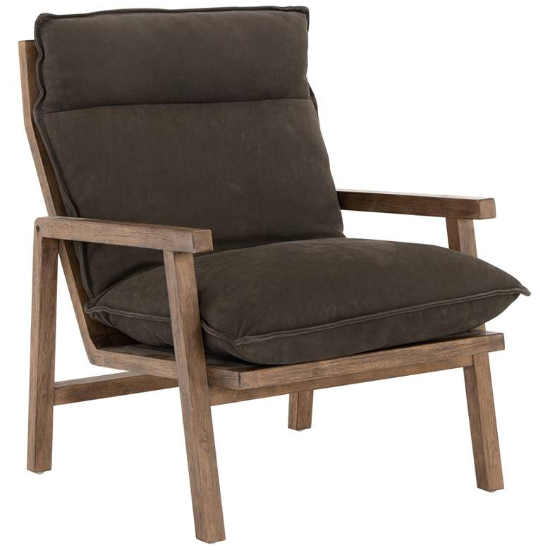 Orion Nubuck Charcoal and Leather Chair