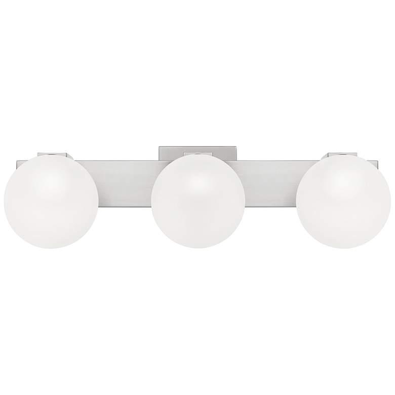"Quoizel Clements 23"" Wide Brushed Nickel 3-Light Bath Light"