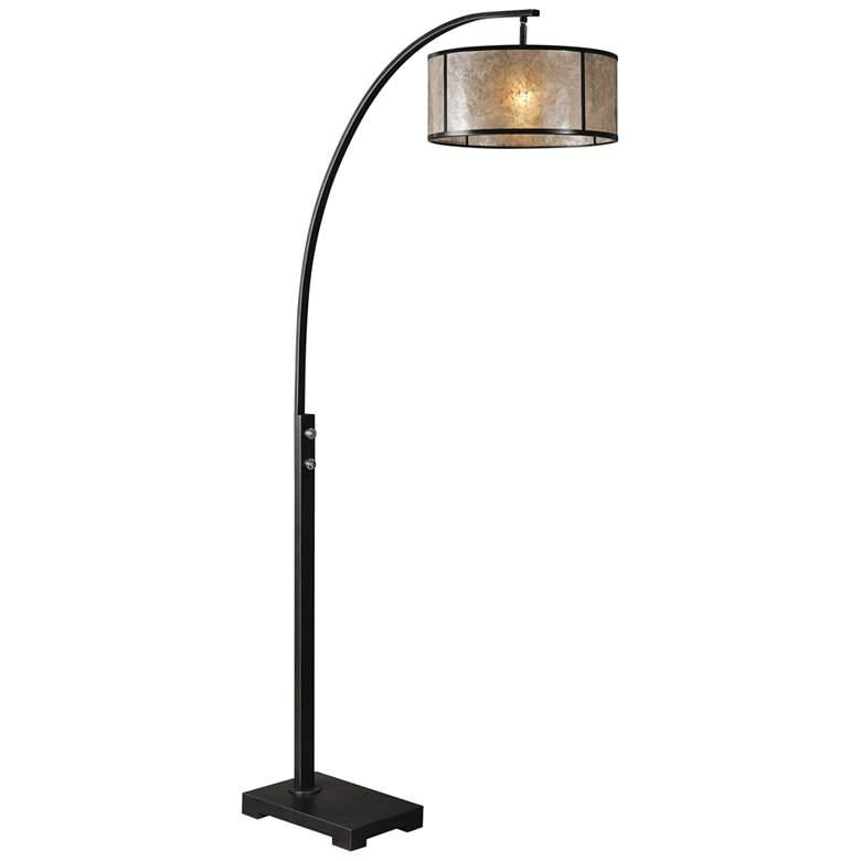 Uttermost Cairano Oil-Rubbed Bronze Metal Arc Floor Lamp