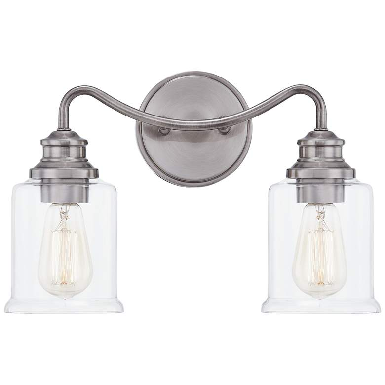 """Quoizel Rover 10 1/4""""H Antique Nickel 2-Light Wall Sconce"""