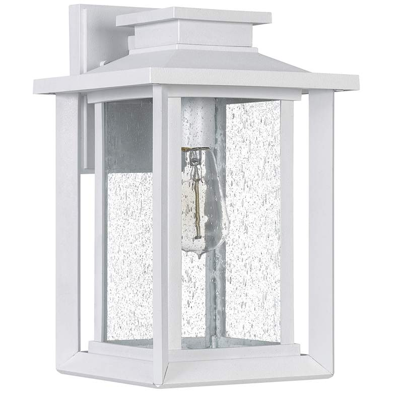 """Quoizel Wakefield 14"""" High White Lustre Outdoor Wall Light"""