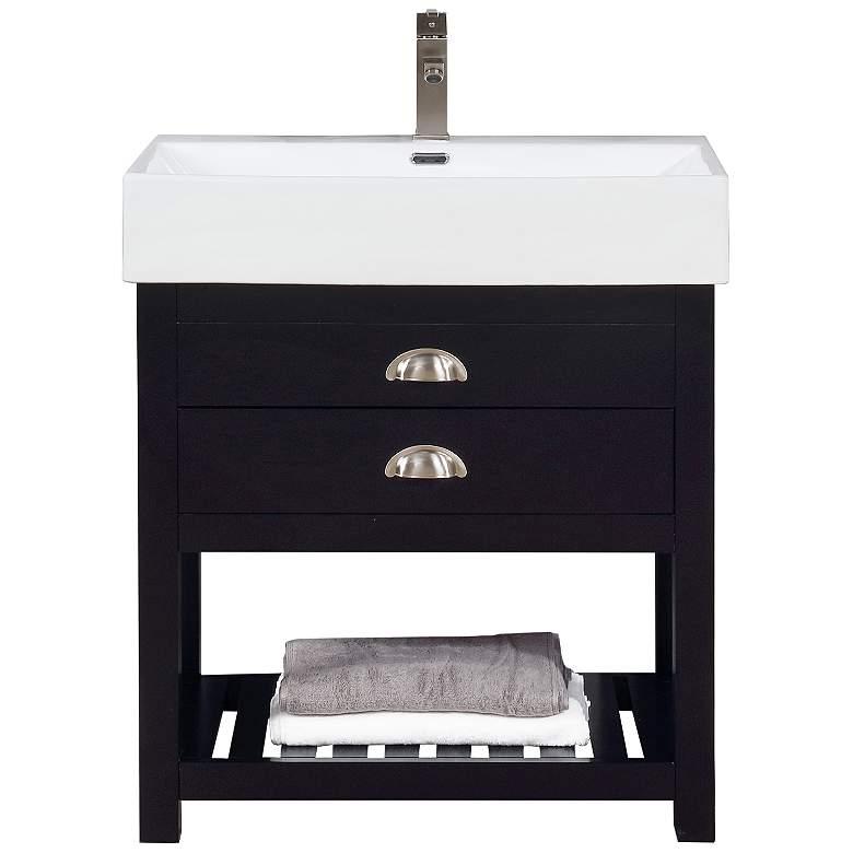 "Gavin 30"" Wide Espresso Wood 1-Drawer Single Sink Vanity"