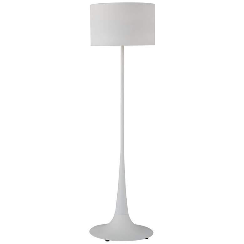 Regina Andrew Design Trilogy White Aluminum Floor Lamp