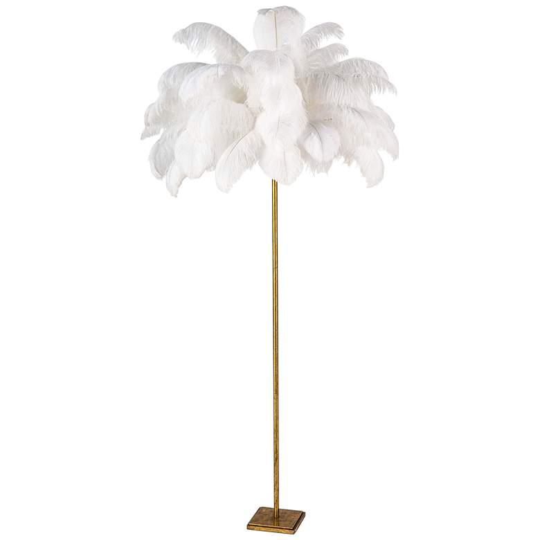 Regina Andrew Design Josephine Steel and Feather Floor Lamp
