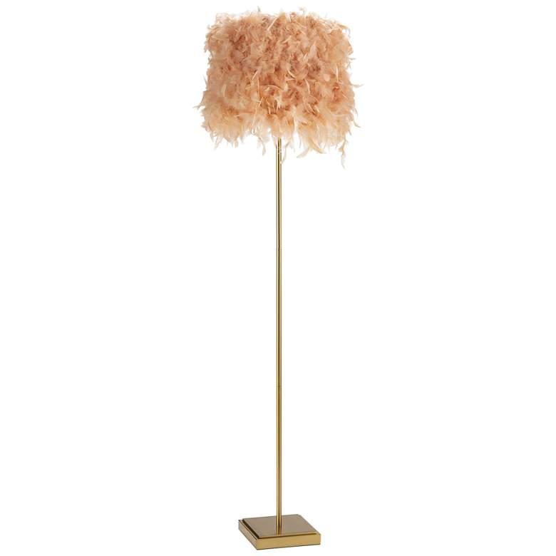 Regina Andrew Design Jasmine Natural Brass Pink Floor Lamp