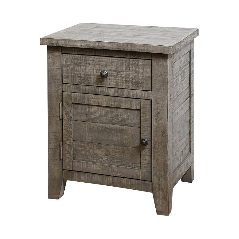 "Nanette 20"" Wide Weathered Gray Acacia Square Side Table"