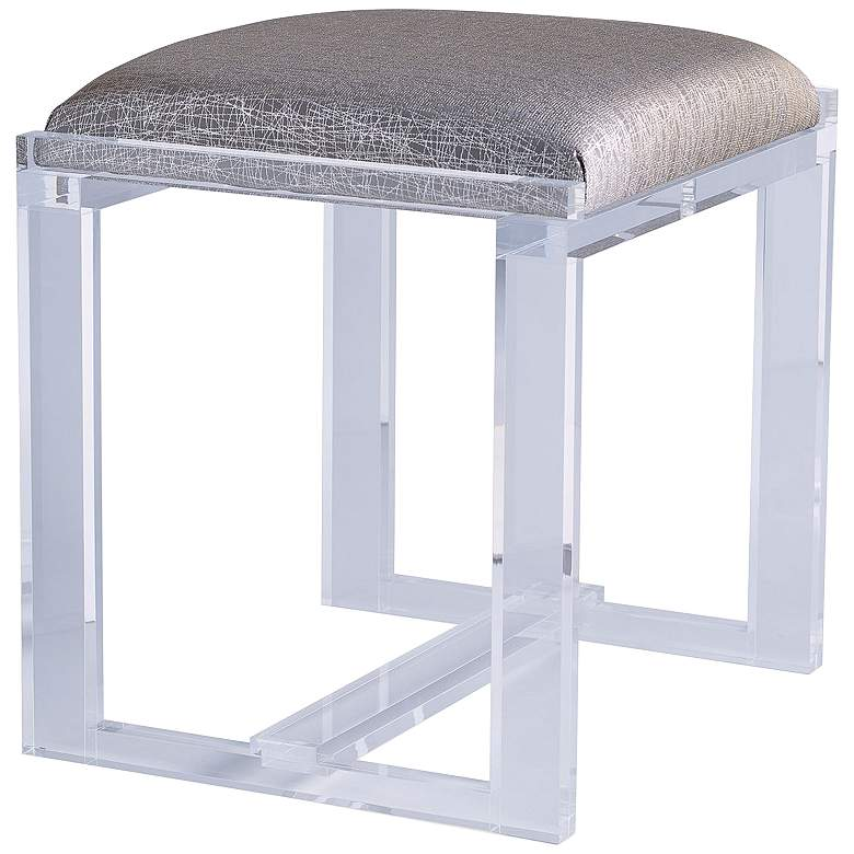 Port 68 Glencoe Lucite Sketch Fabric Small Bench