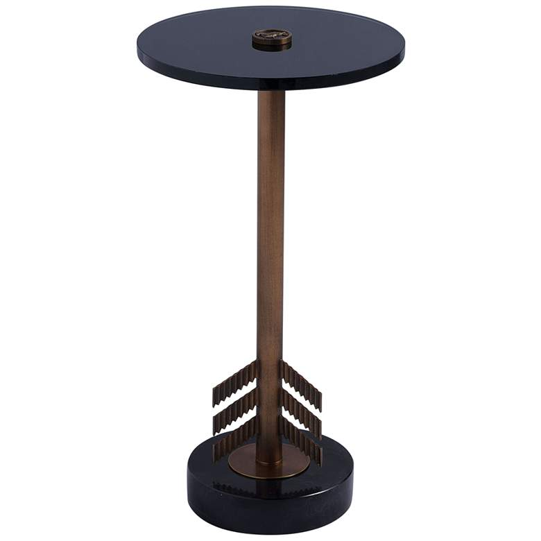 """Port 68 Franco 12"""" Wide Marble Small Accent Table"""