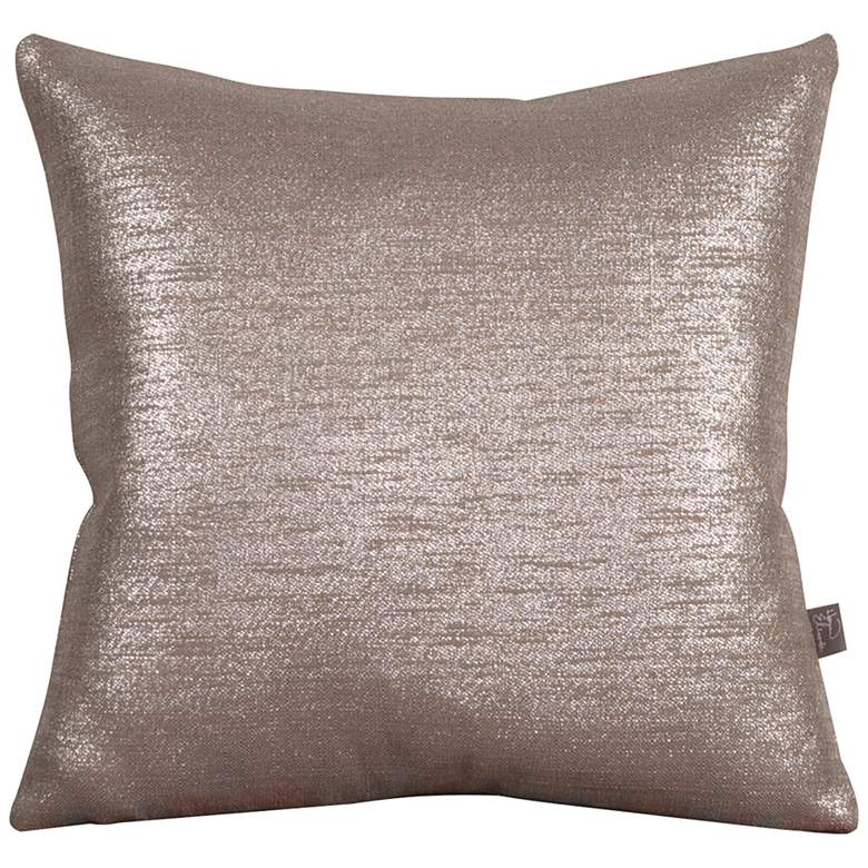 "Howard Elliott Glam Pewter 20"" Square Decorative Pillow"