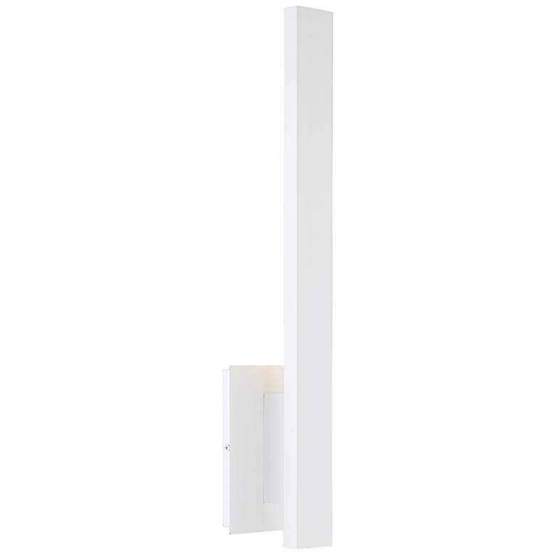 """Haus 21"""" High White Metal LED Wall Sconce"""