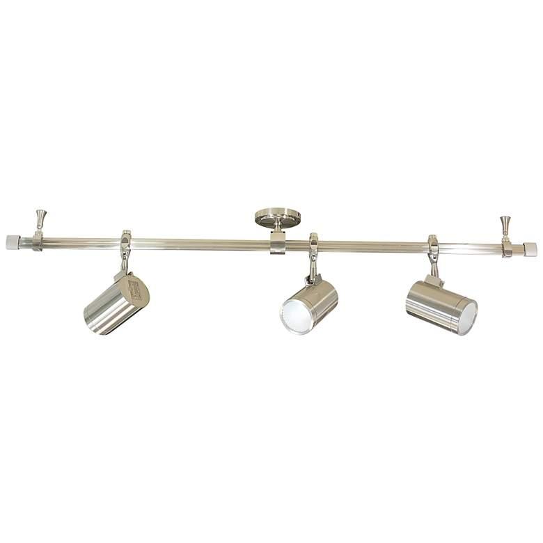 Nora Cyndi 3-Light Nickel 20W 3000K LED Monorail Track Kit
