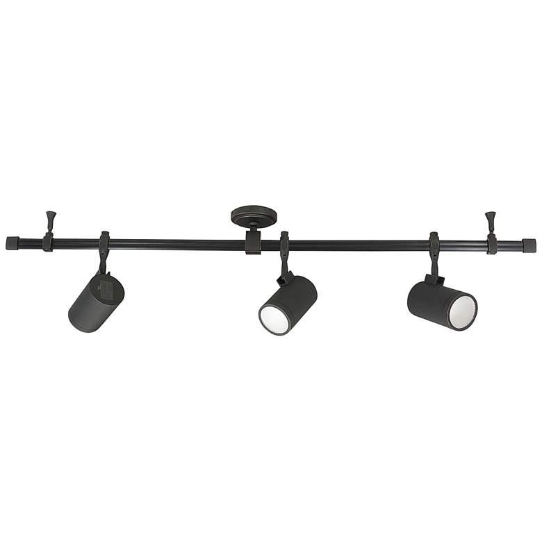 Nora Cyndi 3-Light Bronze 20W 4000K LED Monorail Track Kit