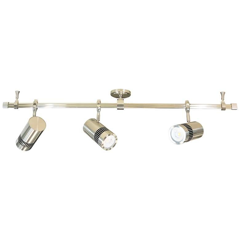 Nora Cyndi 3-Light Nickel 30W 4000K LED Monorail Track Kit