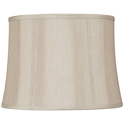 Taupe Softback Round Lamp Shade 14x16x12x12 (Spider)