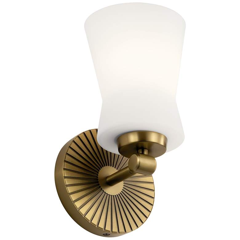 """Kichler Brianne 9 1/2""""H Brushed Natural Brass Wall Sconce"""