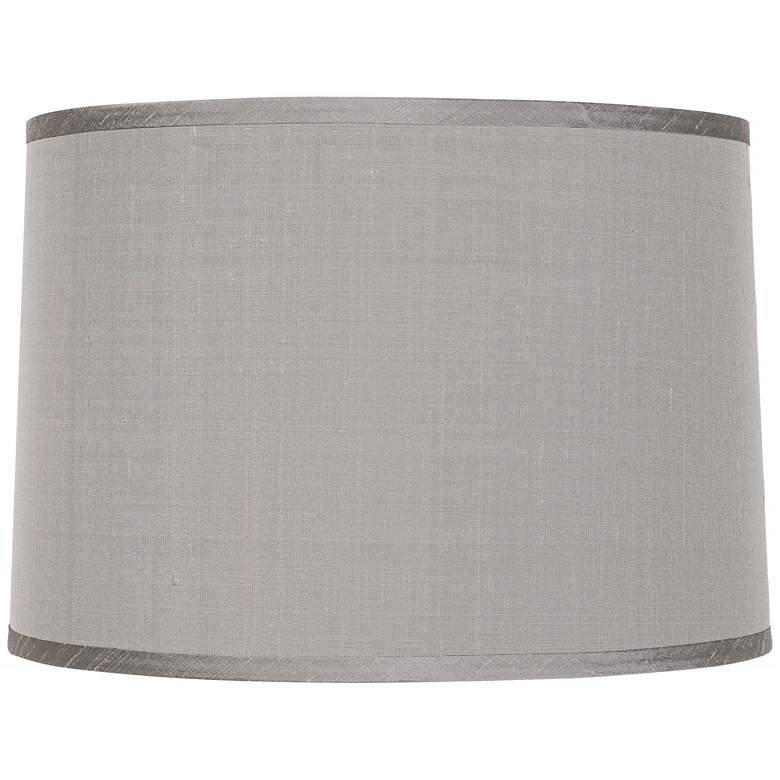 Platinum Gray Dupioni Lamp Shade 15x16x11 (Spider)