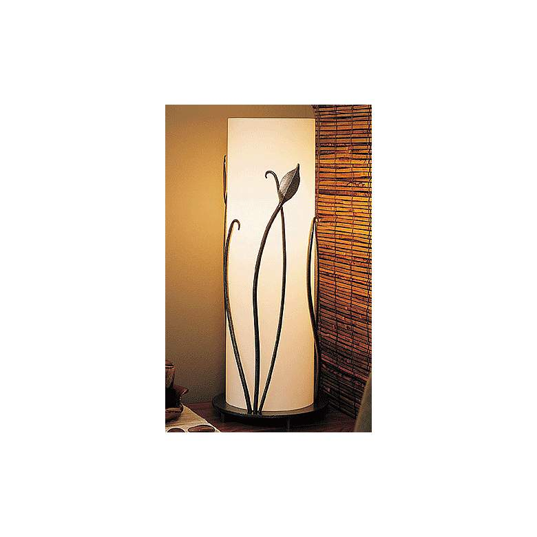 "Hubbardton Forge Glass 18""H Accent Table Lamp w/Leaves"