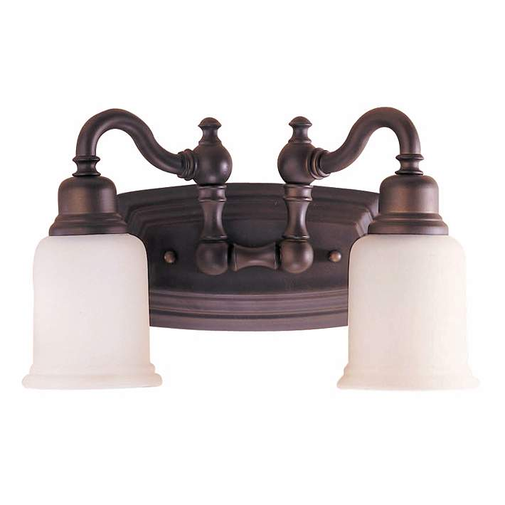 Canterbury 14 W Oil Rubbed Bronze 2 Light Bathroom